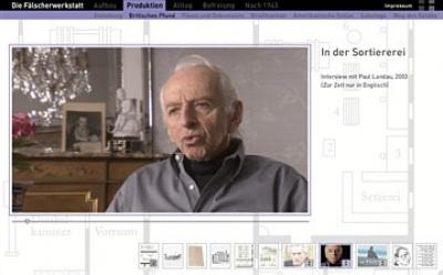 Die Fälscherwerkstatt - Videos für Website der Gedenkstätte Sachsenhausen