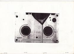 Rückseite einer U-matic-Videokassette (1:1 Fotokopie)