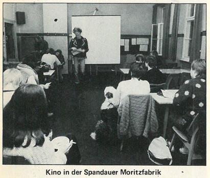Kino in der Spandauer Moritz-Fabrik