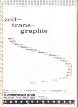 Deckblatt Zeittransgraphie Broschüre von 1986
